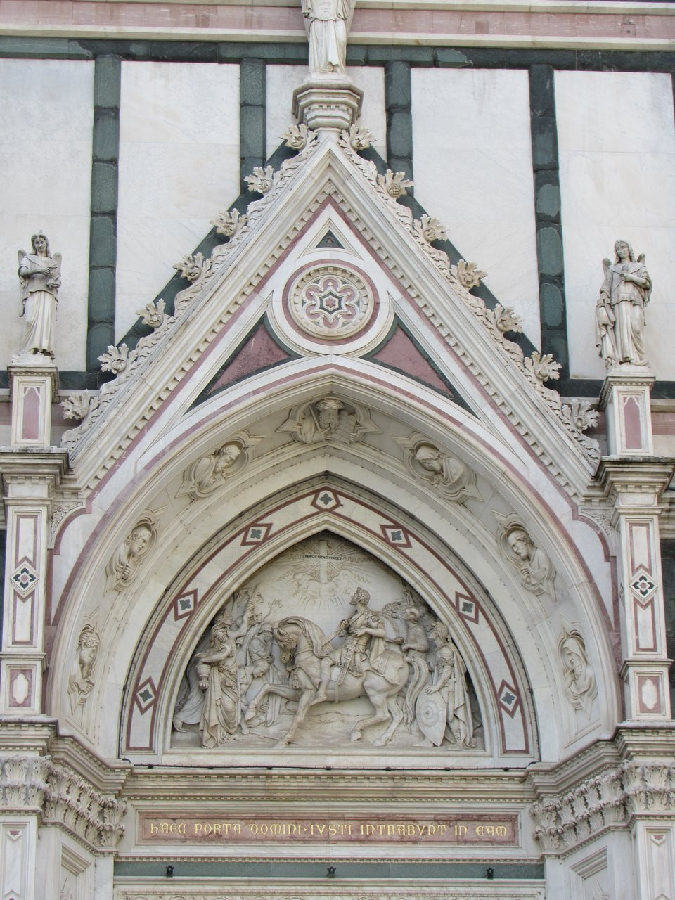 detail of the facade of Santa Croce