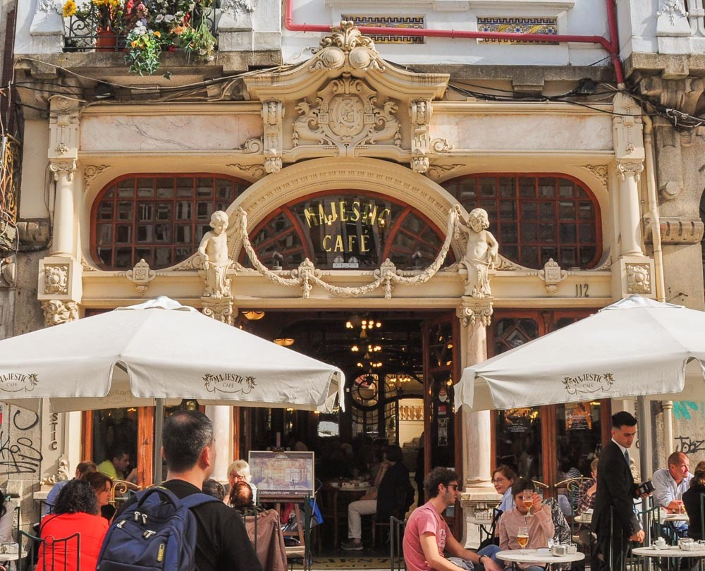 the Cafe Majestic on Rua Santa Caterina in Porto