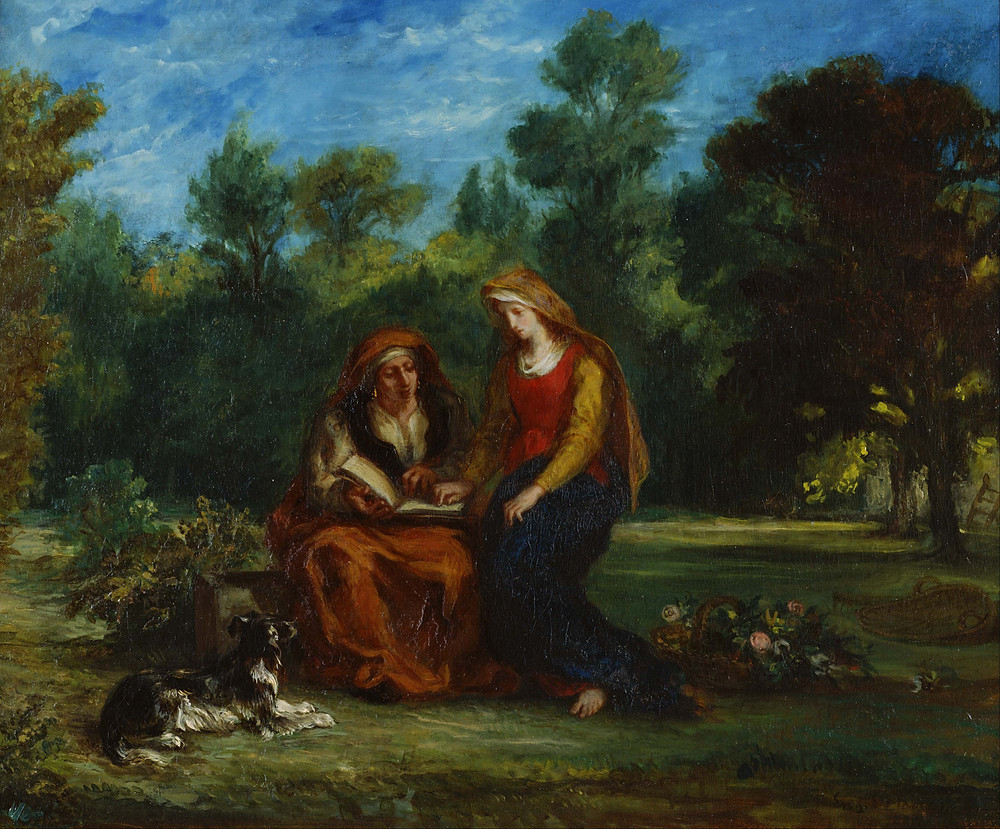 Eugene Delacroix, The Education of the Virgin  1842