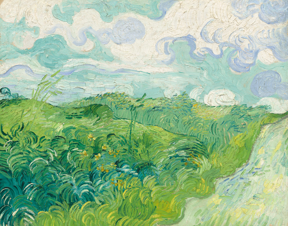 Vincent Van Gogh, Green Wheatfields, Auvers, 1890 -- in the National Gallery of Art in DC