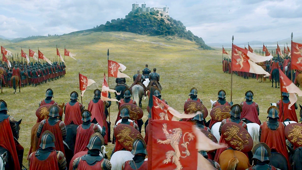 Jaime Lannister and the Tarlys march on Highgarden