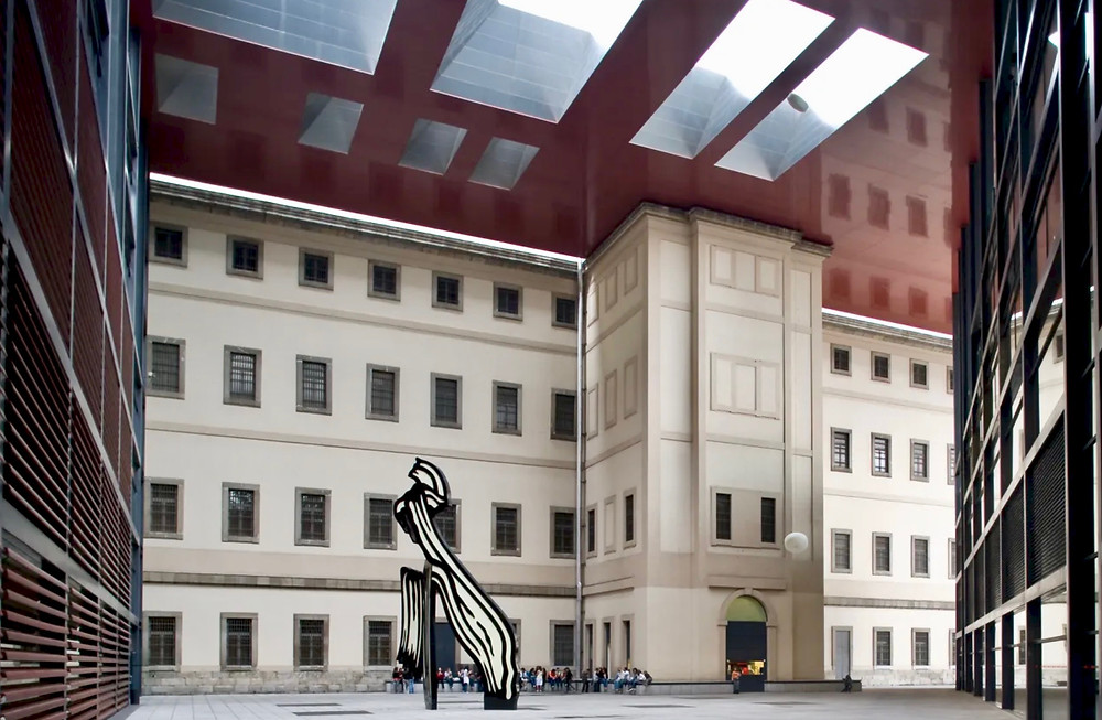 the Reina Sofia Museum with Roy Lichtenstein's 1962 Brushstroke
