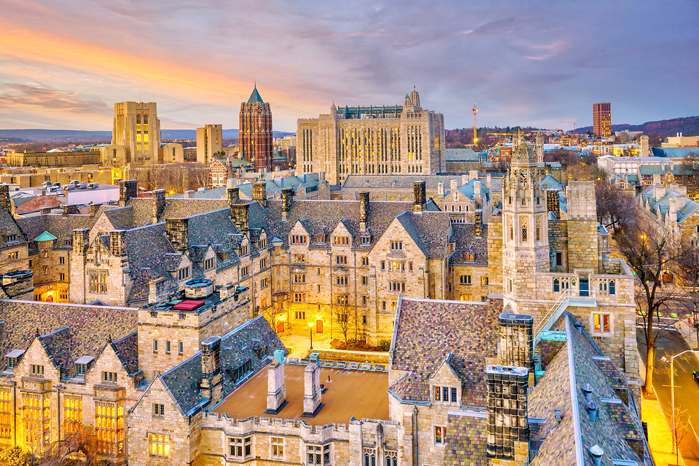 the Gothic Revival architecture of Yale University