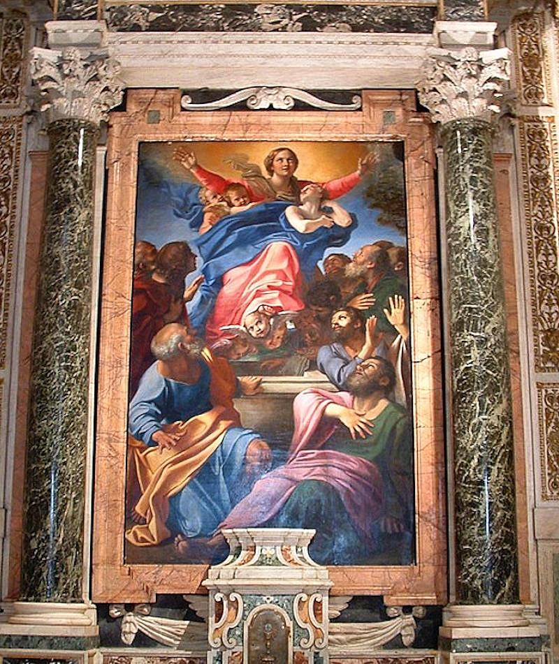 Annabale Carracci's Assumption of the Virgin