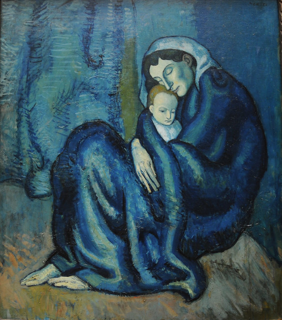 Pablo Picasso, Mother and Child, 1904 -- from Picasso's Blue Period