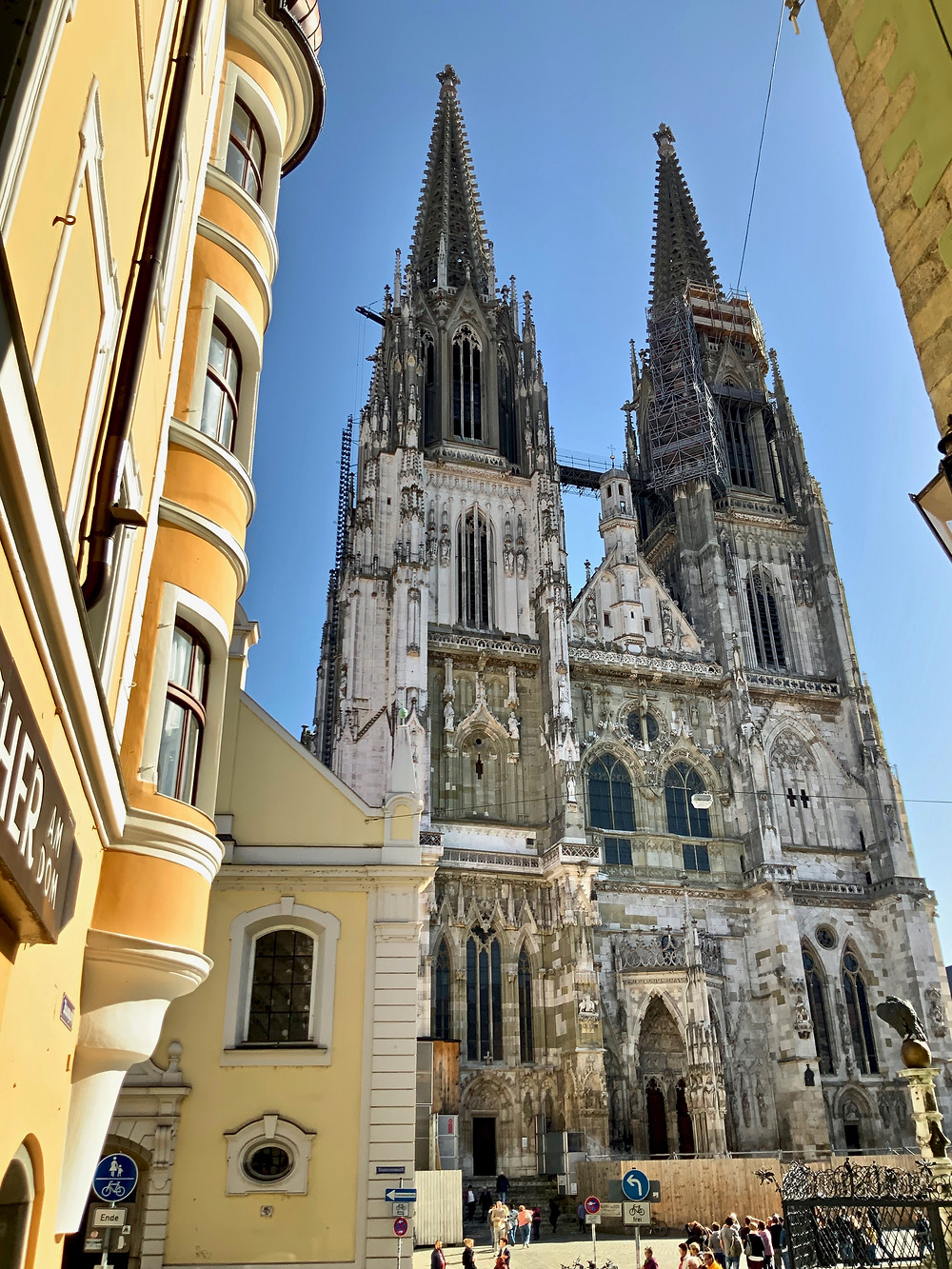 the towering Regensburg Cathedral