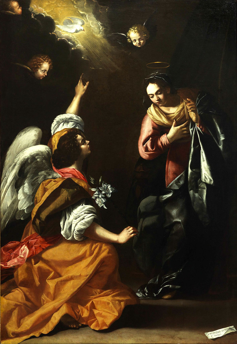 Artemisia Gentileschi, The Annunciation, 1630