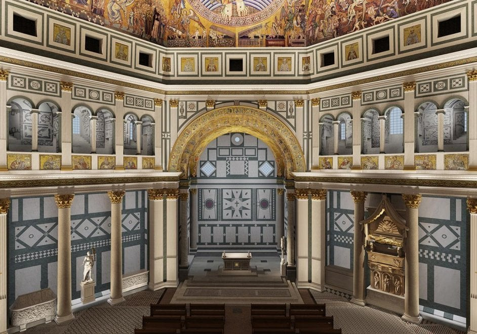 interior of the Baptistery
