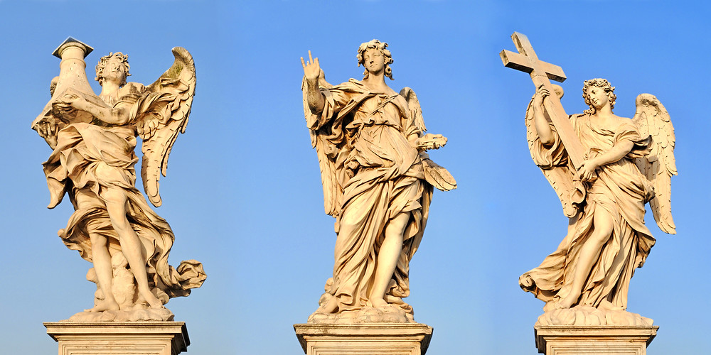 angels on the Ponte Sant'Angelo