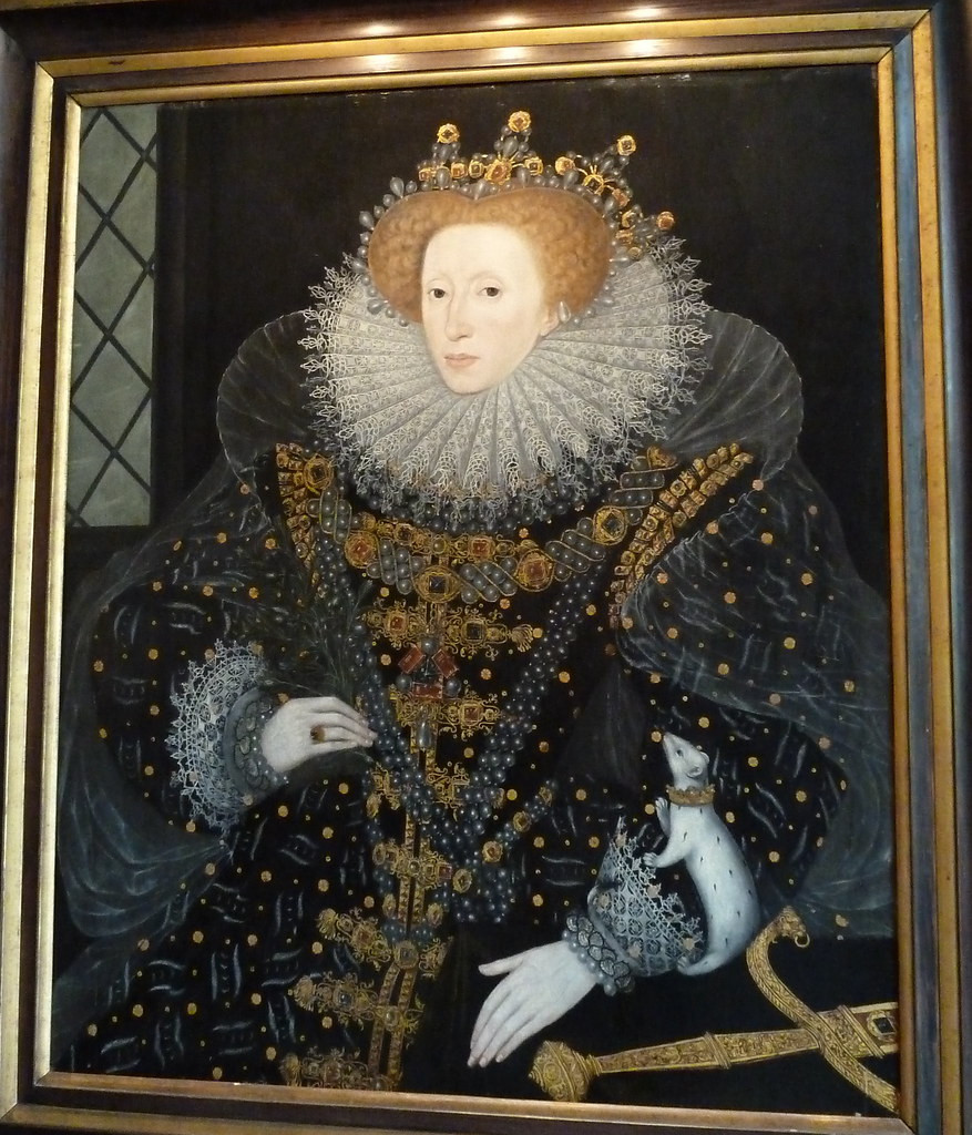 "Elizabeth's court painter Nicholas Hilliard, the ""Ermine Portrait,"" 1585"