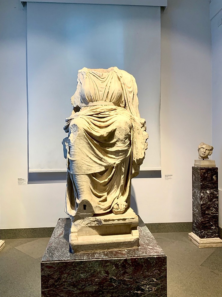 the Magna Mater statue in the Palatine Museum