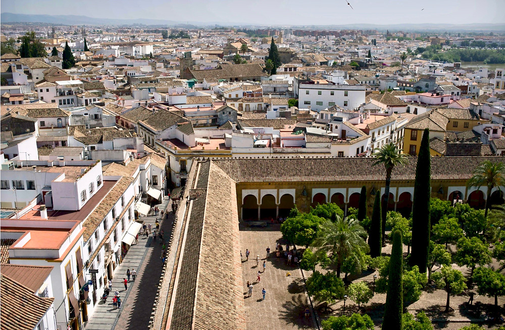 view of Cordoba from the minaret of the Mezquita