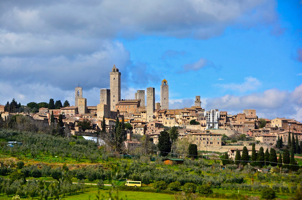 the spiky towers of San Gimignano