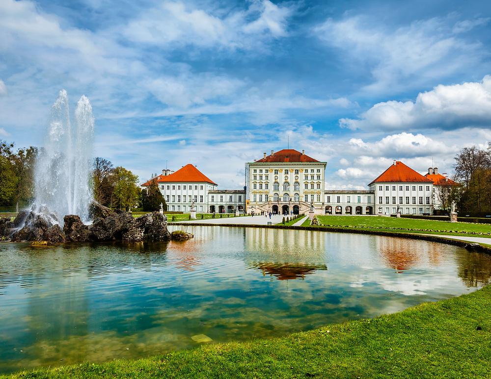 the 17th century Schloss Nymphenburg outside Munich Germany
