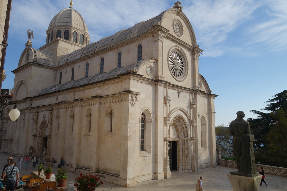 facade of Sibenik Cathedral