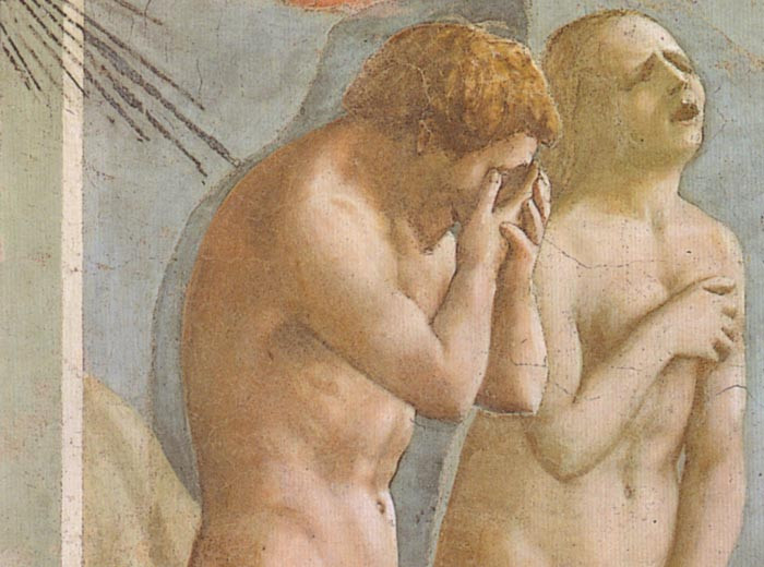 detail of the Expulsion of Adam and Eve from Eden