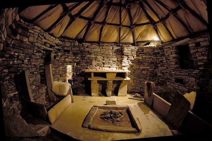 Skara Brae replica house