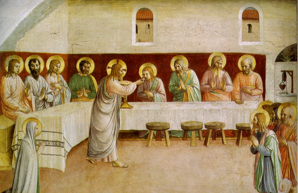 Fra Angelico's The Last Supper in Cell 35