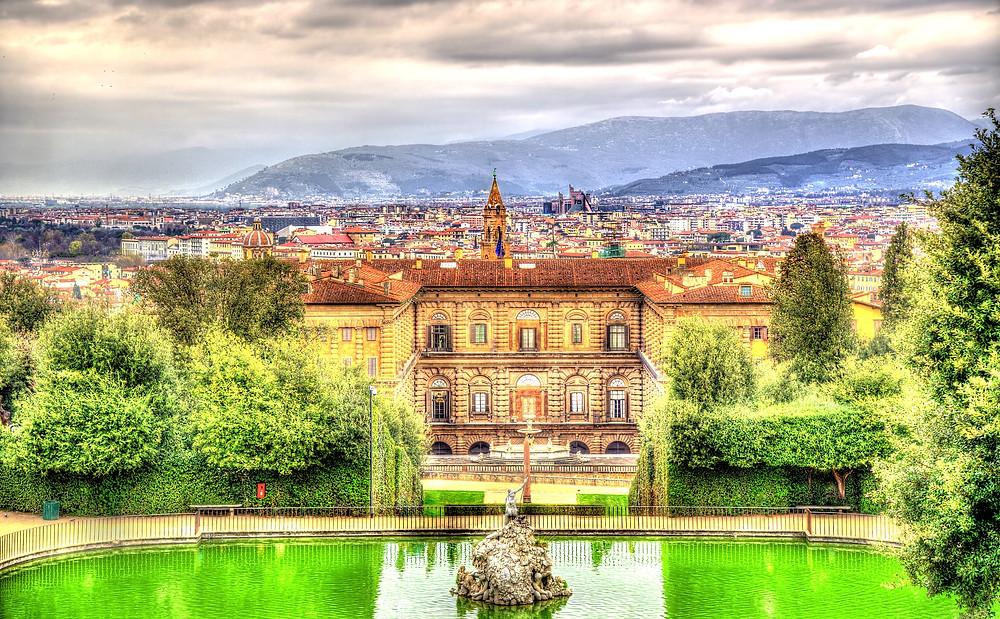 the Pitti Palace
