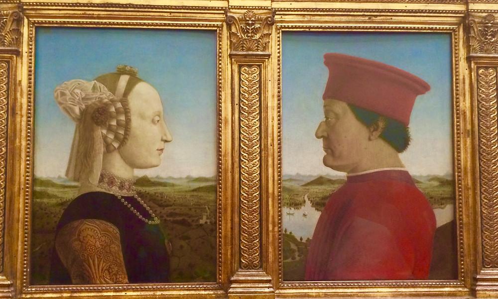 Pierro della Francesca, The Duke and Duchess of Urbino, 1473-75