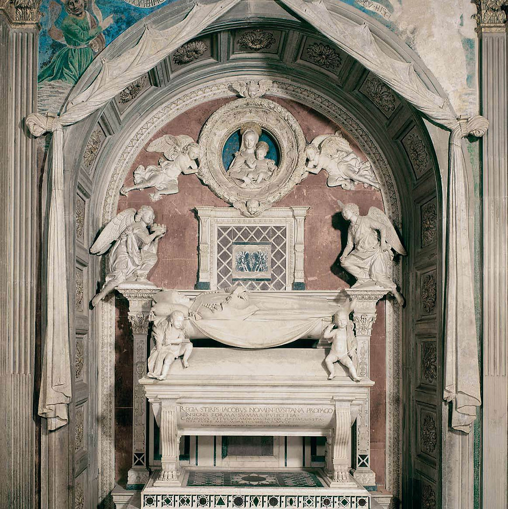 tomb of the Cardinal of Portugal in San Miniato al Monte