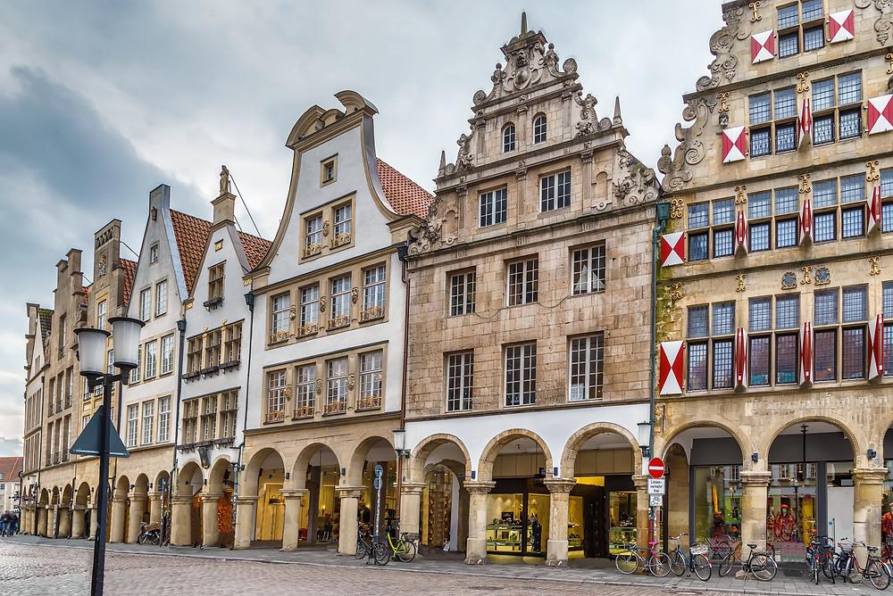 Prinzipalmarkt is historic street in Munster, Germany