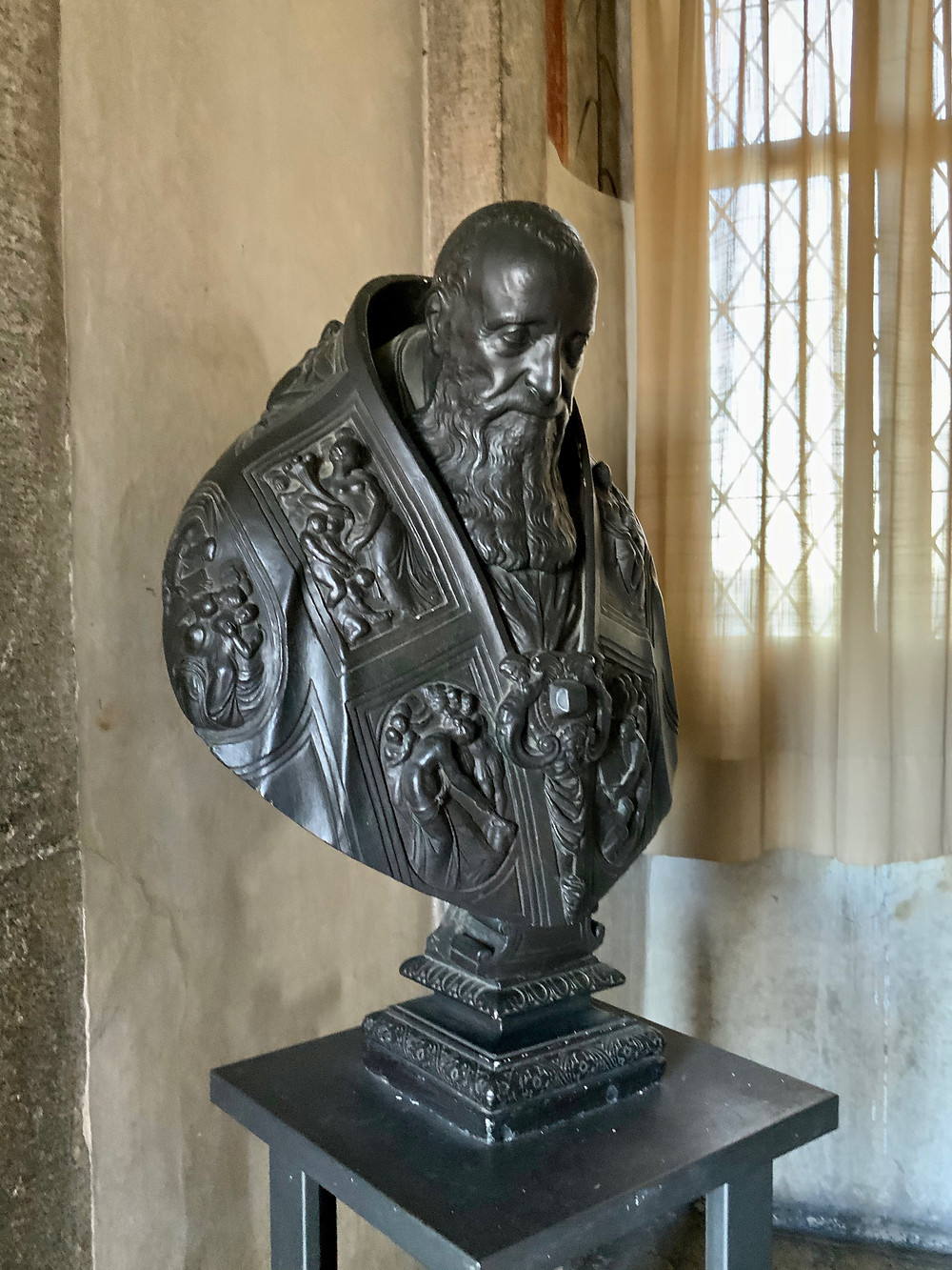 bust of Pope Paul III in the Castle Sant'Angelo