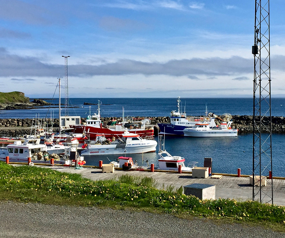 the harbor in Grímsey Island