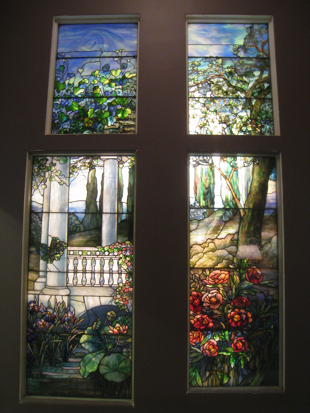 Tiffany stained glass windows at the Carnegie Museum of Art
