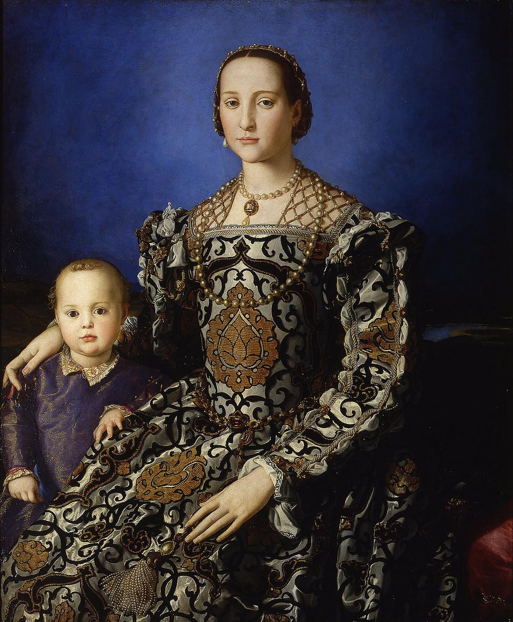 Bronzino, Eleanora di Toledo, 1545 -- in the Uffizi Gallery