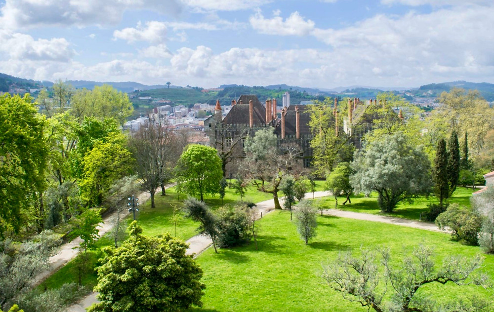 view from the top of Guimaraes Castle