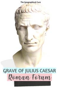 Visiting the grave of Julius Caesar in the Roman Forum in Rome Italy
