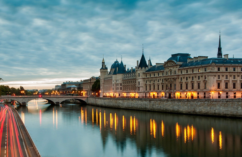 Conciergerie on the Seine River at night