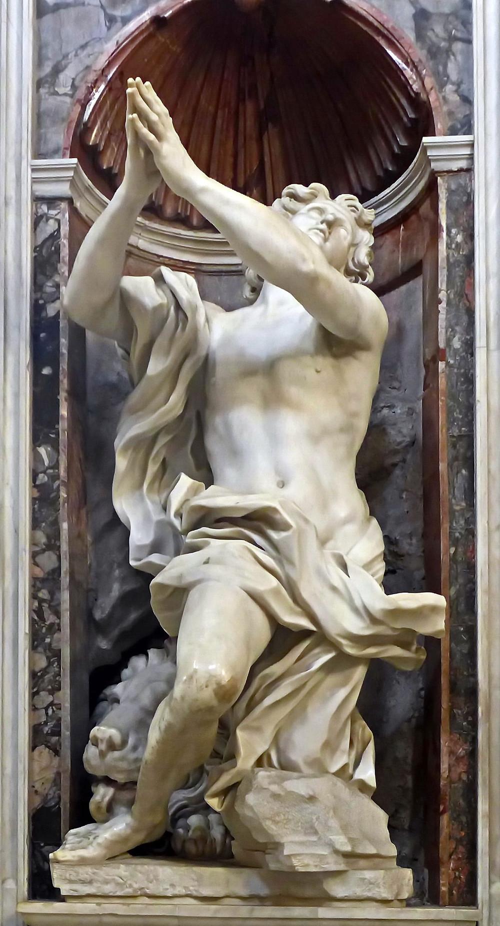Bernini's Daniel sculpture in the Chigi Chapel