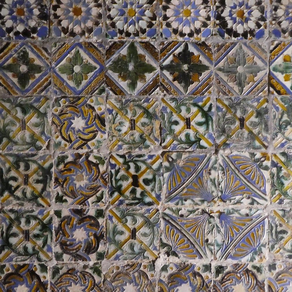 Mudejar tiles in the church