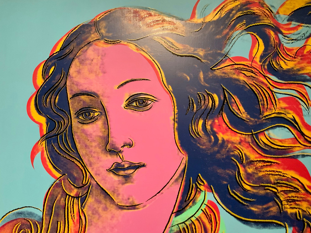Andy Warhol, silkscreen of Botticelli's Renaissance painting The Birth of Venus, 1984