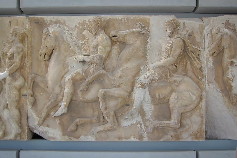 Parthenon frieze at the Acropolis Museum