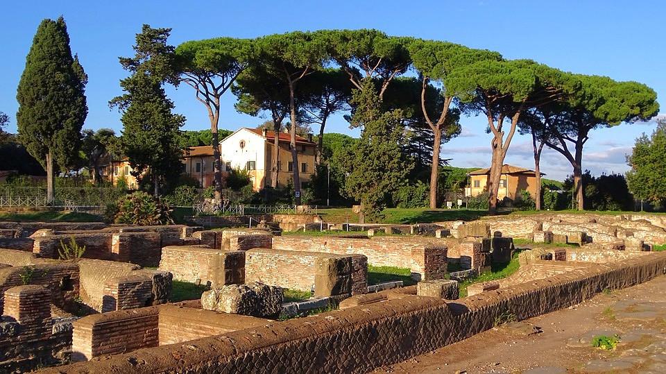 ruins of Ostia Antica