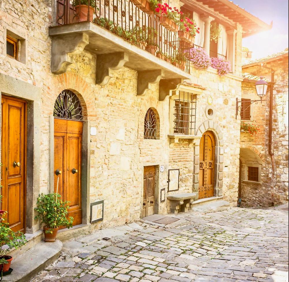 tiny medieval village of Montefioralle