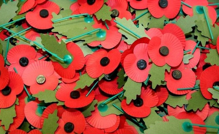 the poppy pins worn by many Londoners