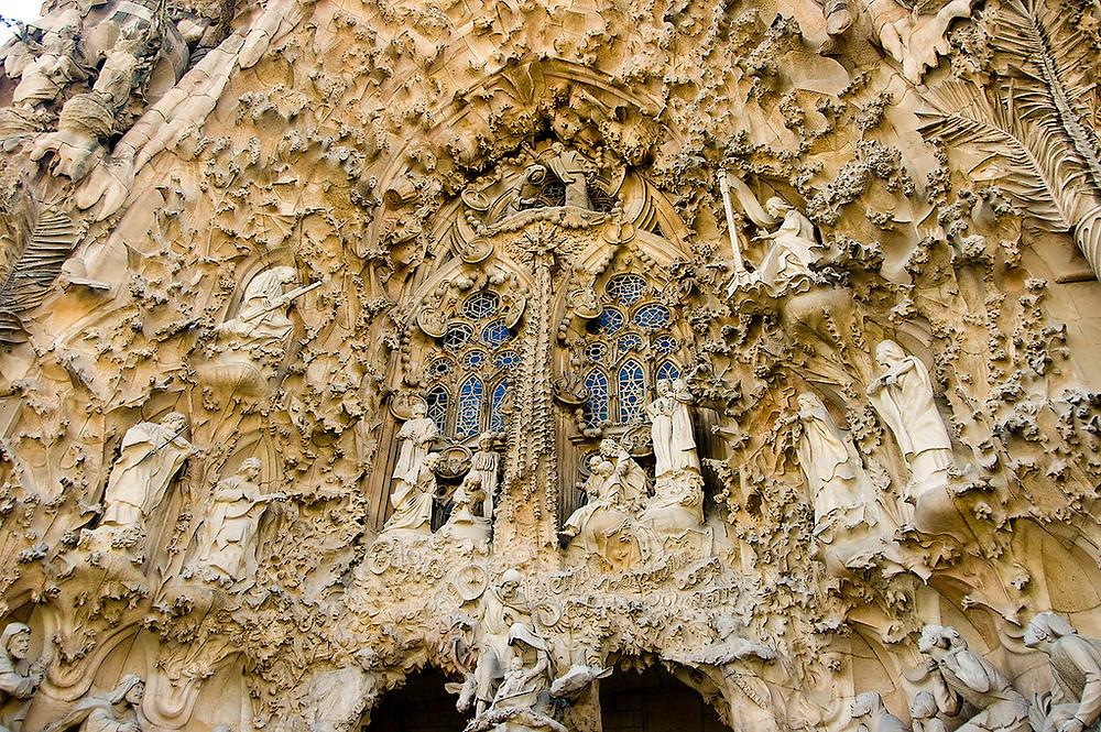 the Nativity Facade of Sagrada Família