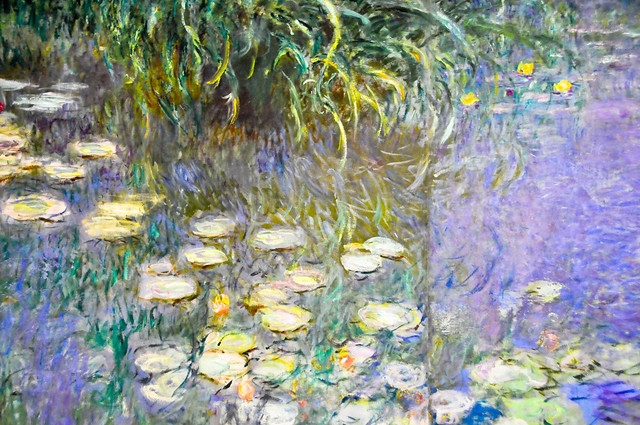Monet painting in the Musee de l'Orangerie