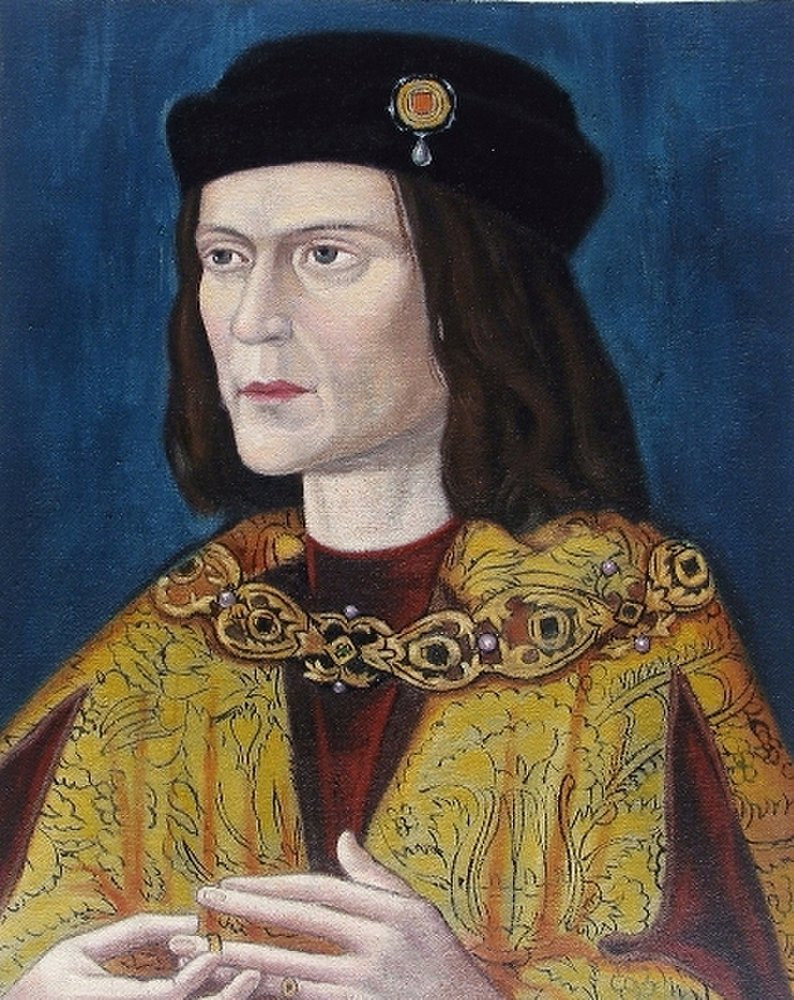 another Tudor era portrait of Richard III inaccurately showing him with a hunchback and brown eyes