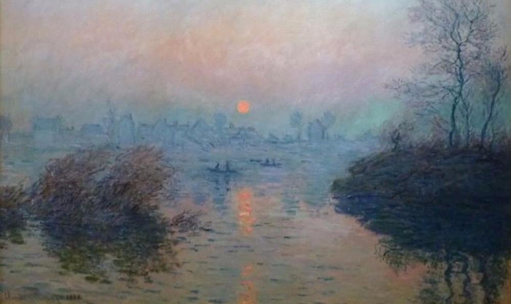 Monet, Sunset on the Seine at Lavancort, Winter Effect, 1880