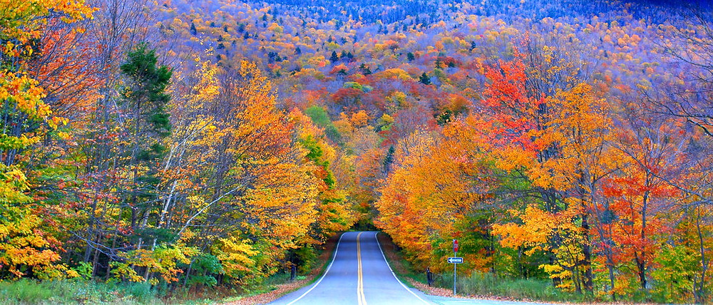 Smuggler's Notch in the fall