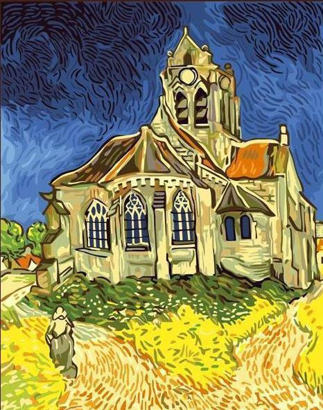 Vincent Van Gogh, Church at Auvers, 1890