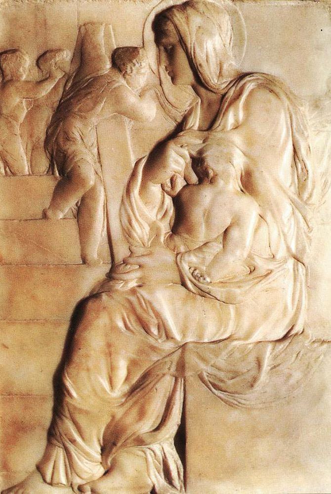 Michelangelo, relief Madonna of the Stairs, 1492