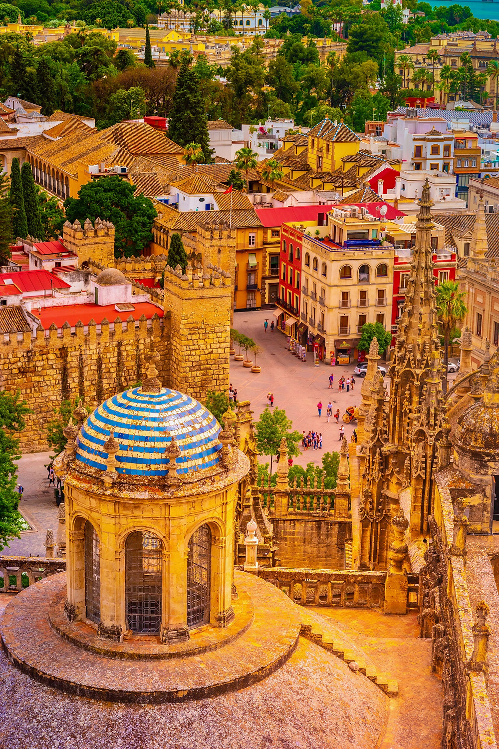views over Seville from La Giralda Bell Tower
