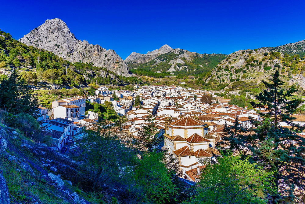 the white pueblo town of Grazalema in Andalusia
