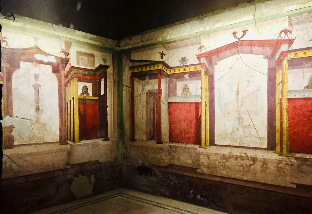 frescos in the Room of the Masks